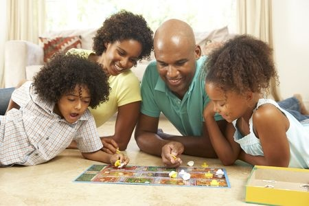 Family Playing Games Inside